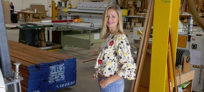 Shanny in the City Models Masterlift Forklifts in our Wood Shop