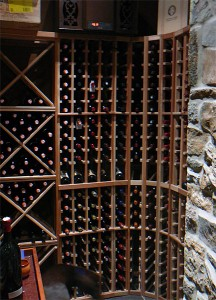Ancaster Cellar with large format wine storage.