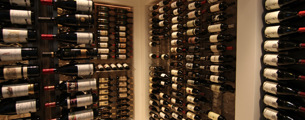 Luxury wine racking systems are available from Rosehill Wine Cellars.