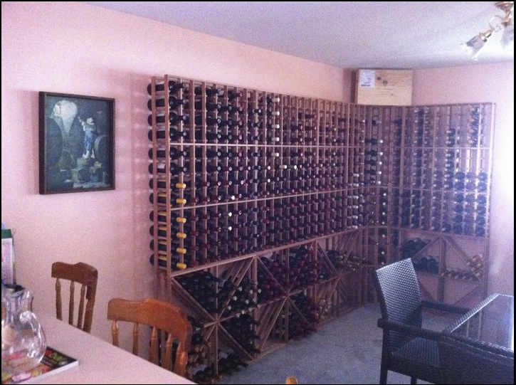 Customer Appreciation: Modular Redwood Wine Racks