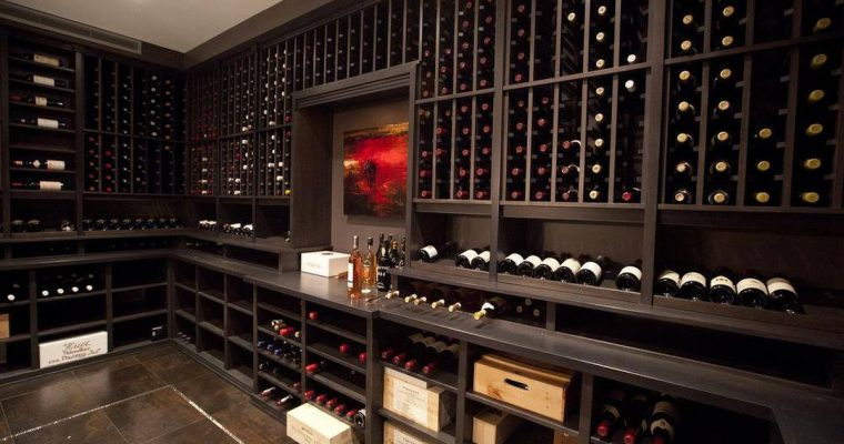 Alex Lifeson's wine cellar: designed and built by Rosehill Wine Cellars.