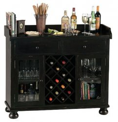 Wine racking storage can be in a cellar or cabinet.