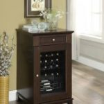 Smaller Elegance Wine Cabinet stores 21 bottles of wine.