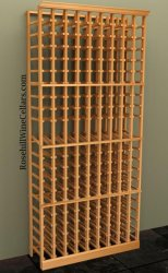 Beech, sapele, and toasted maple are fine types of wood for wine cellar racks.