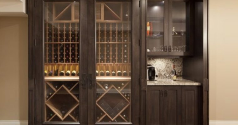 Wine Racking Storage in a Wine Cabinet