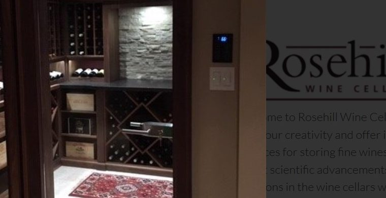 Testimonial for Rosehill Wine Cellars from a Recent Wine Cellar Installation Client