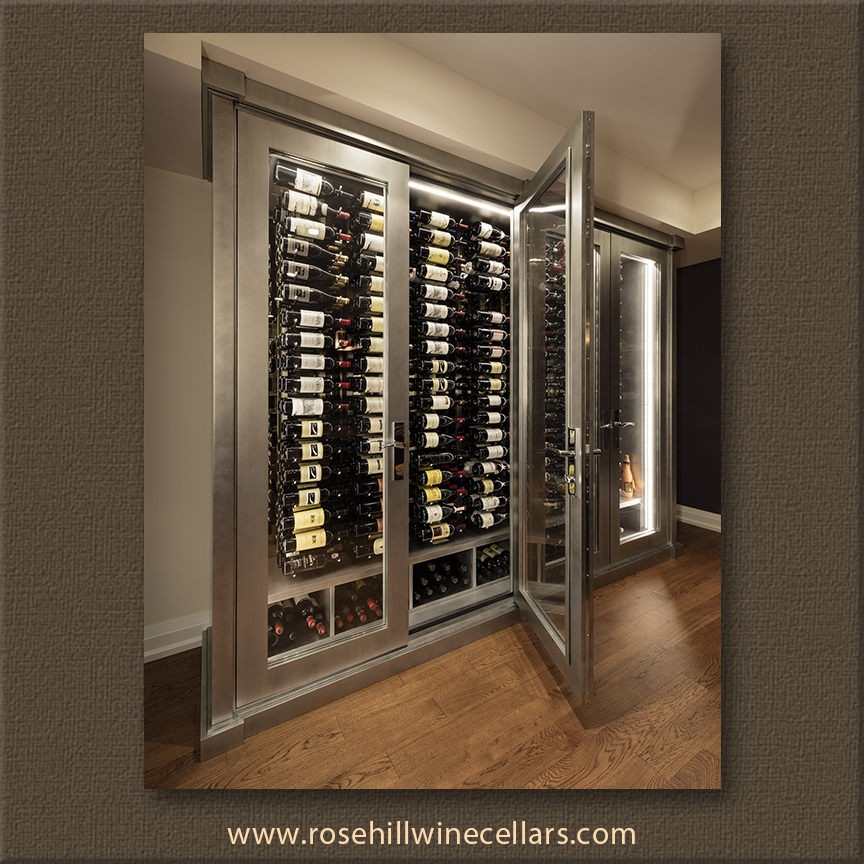 Glass Doors wine cabinet for Special Effect Wine Cabinet