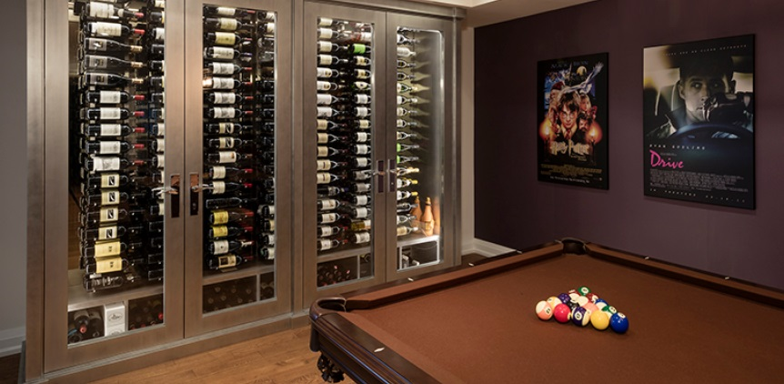 Jewelry Box Shaped Wine Cellar for Billiards Room