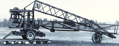 Liebherr's first construction crane, TK10 - 1949