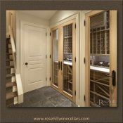 (24) White Oak Narrow Wine Cellar upon arrival in Basement SL-WH2-04