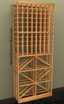 Diamond/Individual Wood Wine Rack Combo 7ft+