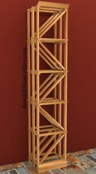 Single Column Diamond Wood Wine Rack 6ft+