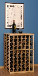 750 ml Double Deep Wine Rack with Table Top