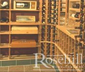 (28) Modular wine Racks with Slate Floor and Kick Plate
