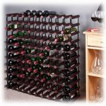 110 Bottle Cherry Finish Wine Rack