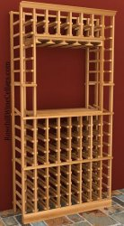 750mL Wood Wine Rack with Tasting Niche 6ft+