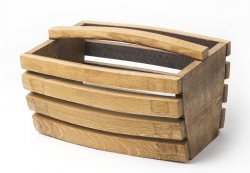 Barrel Stave Wine Basket