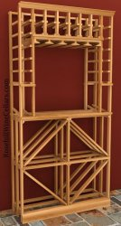 Tasting Niche - Individual & Diamond Wood Wine Rack 6ft+