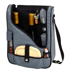 Houndstooth Double Wine & Cheese Carrier