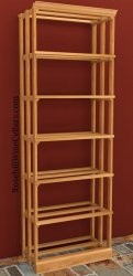 Wood Case Wood Wine Rack 6ft+