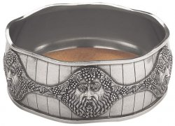 Bacchus Pewter Wine Bottle Coaster