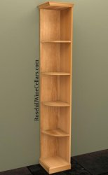 Quarter Round Shelf Wood Wine Rack 7ft+