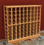 Half Height - 9 column 750mL Wood Wine Rack 6ft