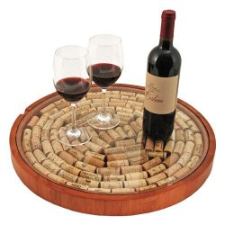 Lazy Susan Wine Cork Display