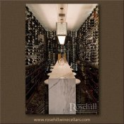 (23) Stone Waterfall Counter within Combination Wine Cellar