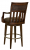 Swivel bar stool with faux leather seat cushion and back rest