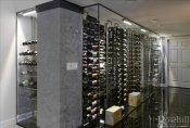 (14) Modern Residential Glass Wine Cellar