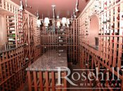 (10) Custom Wine Racking with Granite Table