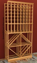Diamond/Individual Wood Wine Rack Combo 6ft+