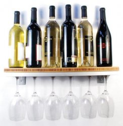 Channel Six Wine Glass Rack with Shelf