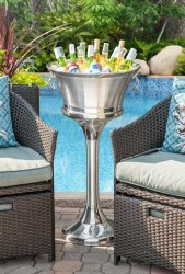 Stainless Steel Beverage Bin Stand (Bucket not Included)