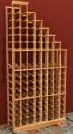 Waterfall Right Wood Wine Rack 6ft