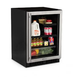 "High Efficiency 24"" Beverage Center - Glass Door"