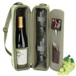 Hamptons Olive & Tweed Wine Carrier