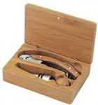 Bamboo Wood 2 Piece Wine Accessory Gift Set