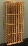 Individual Bottle 9 Column Wood Wine Rack 7ft+