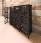Short Four Wide Wine Locker