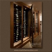 (3) Walnut Custom Display Wine Cabinet – And Cooling System SL