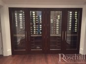 (36) Custom Cabinet With Metal and Wood Wine Racking SL