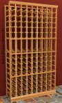 Individual Bottle 9 Column Wood Wine Rack 6ft