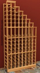 Waterfall Right Wood Wine Rack 6ft+