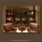 (12) Leather Chairs with large Custom Wine Cabinet SL
