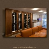 (5) Walnut Custom Display Wine Cabinet – Sides house the cooling unit SL