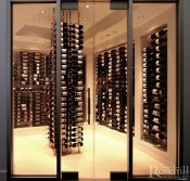 (31) Ivory & Ebony Accent this Niche Oriented Cellar.