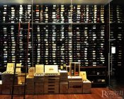 (15) Metal Wine Wall with Library Ladder