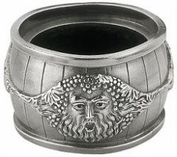 Bacchus Pewter Drip Ring